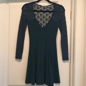 Emerald Green Lace Dress! Urban Outfitters!